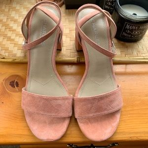 Shoes - Blush Suede Heel